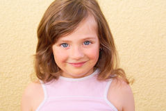 Meisjesgezicht Stock Foto's