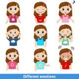 Meisjesgezichten royalty-vrije illustratie