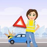 Meisjesongeval met auto stock illustratie