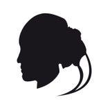 Meisjessilhouet op een witte achtergrond Royalty-vrije Stock Foto's