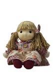 Meisjesstuk speelgoed pop Royalty-vrije Stock Afbeeldingen