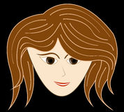 Meisjesvector Royalty-vrije Illustratie