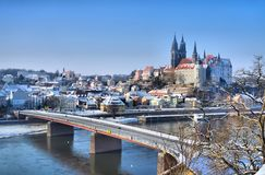 Meissen Albrechtsburg Winter Royalty Free Stock Photos