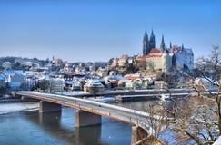 Meissen Albrechtsburg zima Zdjęcia Royalty Free