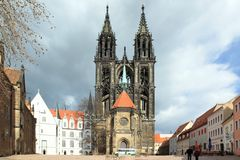 Meissen cathedral Stock Photography