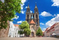 Meissen Cathedral church stock photo