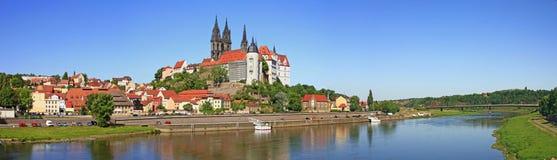 Meissen en el río de Elbe, Alemania imagen de archivo