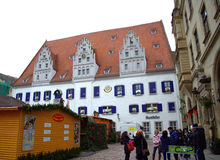 Meissen för marknadsfyrkant Tyskland Arkivfoto