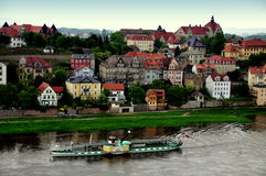 Meissen, Germany: Elbe River Excursion Boat Stock Image