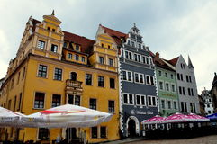 Meissen, Germany: Marktplatz Renaissance Houses Royalty Free Stock Photos