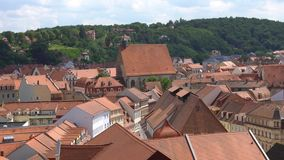 Meissen, Germany : Panoramic View of historic Meissen city center, Germany . Meissen is a town on both banks of the Elbe stock video