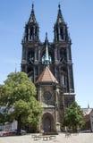 Meissen katedra w Meissen Obraz Royalty Free