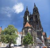 Meissen katedra w Meissen Zdjęcia Stock