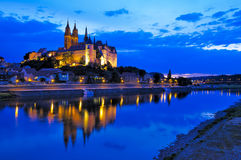 Meissen at night Stock Images