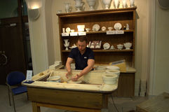 Meissen porcelain demonstration workshop Royalty Free Stock Image