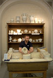 Meissen porcelain demonstration workshop Stock Photo