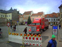 Coca Cola truck Meissen,Germany Royalty Free Stock Photos