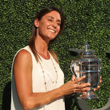 Meister Flavia Pennetta des US Open-2015 nimmt an der US Open-Premiere 2016 teil Stockbilder