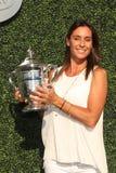 Meister Flavia Pennetta des US Open-2015 nimmt an der US Open-Premiere 2016 teil Lizenzfreies Stockbild