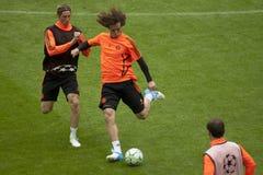 2012 Meister-Liga-Schluss Chelsea Training Lizenzfreies Stockbild