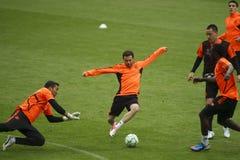2012 Meister-Liga-Schluss Chelsea Training Stockfotografie