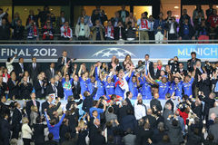 2012 Meister-Liga-Schluss Chelsea Training Stockbilder
