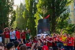 Meister-Ligaschlu? 2018 in Kiew lizenzfreies stockfoto