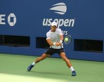 Meister Novak Djokovic des Grand Slams 13-time von Serbien übt für das US Open 2018 bei Billie Jean King National Tennis stockbild