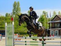 Meisterschaft von Ukraine auf equestri Stockbild