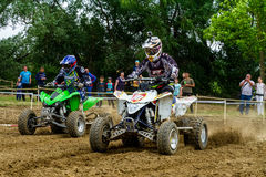 Meisterschaft von Zakarpatie-Region auf Motocross in Uzhhorod stockfoto