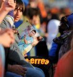 Meisterschaftfeiern des APOEL Klumpens, ZYPERN Stockfotografie