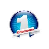 Meisterschafts-Ikonenvektor des Designs eins Lizenzfreie Stockfotos