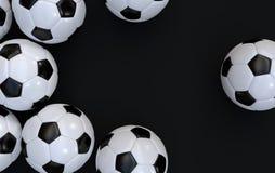 Meisterschaftsfußbälle Stockfoto