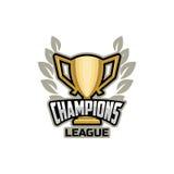 Meistersportliga-Logogold Lizenzfreie Stockbilder