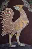 Meisterwerk der traditionellen siamesischen Artanstrichkunst stockbilder