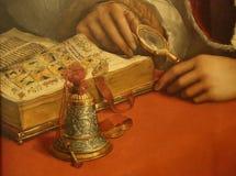 Meisterwerke in Uffizi-Galerie, Florenz, Italien stockfoto