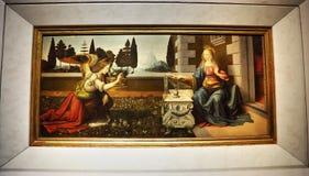 Meisterwerke in Uffizi-Galerie, Florenz, Italien stockfotografie