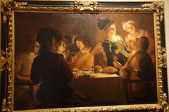 Meisterwerke in Uffizi-Galerie, Florenz, Italien stockbild