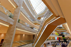 meisui购物中心内部结构  库存照片