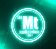 Meitnerium化学元素 向量例证