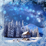 Mejeri Star Trek i vinterträna bakgrund med något mjukt H arkivbilder