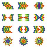 Mejikuhibiniu, shape of rainbow, Royalty Free Stock Photos