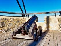 Mejillón histórico que carga Canon, Fremantle, Australia occidental imagen de archivo