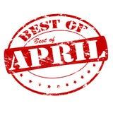 Mejor de abril ilustración del vector