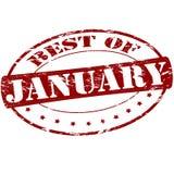 Mejor de enero ilustración del vector
