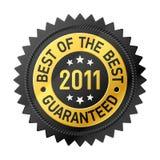 Mejor de la escritura de la etiqueta del mejor 2011 Fotos de archivo