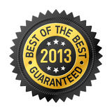 Mejor de la escritura de la etiqueta del mejor 2013 Fotos de archivo libres de regalías