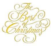 Mejor de la escritura de la Navidad Fotos de archivo