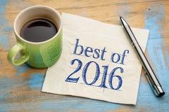 Mejor de la escritura 2016 de la servilleta Foto de archivo