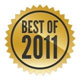 Mejor de la etiqueta engomada 2011 Fotografía de archivo